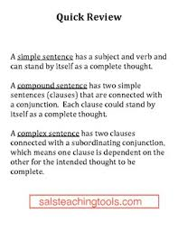simple compound and complex sentences worksheets mreichert kids