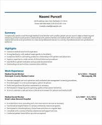 Example Of A Social Worker Resume by 26 Free Work Resume Templates Free Word Pdf Documents Download