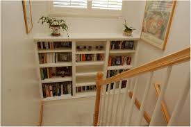new built in bookshelves under stairs 96 in minimalist with built