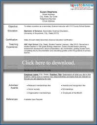 Sample First Year Teacher Resume by Sample Teacher Resumes