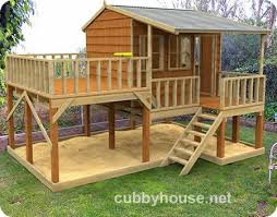 Backyard Playhouse Ideas Vibrant 7 Diy Club House Plans Outdoor Playhouse Plans Homepeek