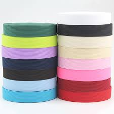 elastic ribbon by the yard solid colored plain polyester elastic ribbon 20mm 10 yard for