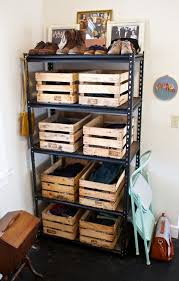 Making Wooden Shelves For A Garage by 39 Wood Crate Storage Ideas That Will Have You Organized In No Time
