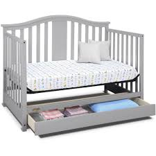 Graco Crib Convertible by Graco Solano 4 In 1 Convertible Crib With Drawer Pebble Gray