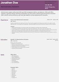 Entry Level Resume Sample Resume Examples For Administrative Assistant Entry Level Free