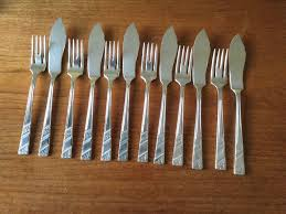 Kitchen Knives London Set Of 6 Viners Silver Plated Fish Knives And Forks In Wimbledon