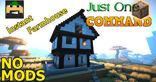 instant farmhouse in vanilla minecraft just one command 1 8