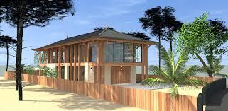 Maison Bord De Mer Construction D U0027une Villa Bois Et Pierre En Bord De Mer Au Pyla