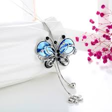 long butterfly necklace images Blue butterfly necklace exceptional means jpg