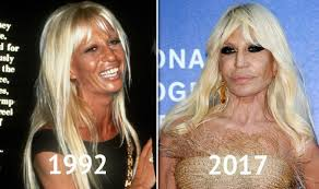 before and after hair styles of faces donatella versace before and after young donatella s style compared