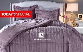 Fur Bed Set Hsn Concierge Collection Long Faux Fur Comforter Set