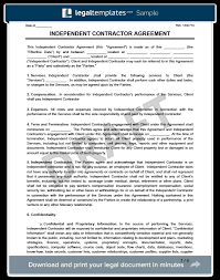 create an independent contractor agreement legaltemplates