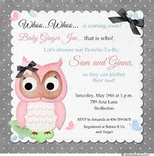owl themed baby shower ideas baby shower invitation gray owl whoo