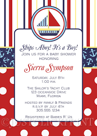 nautical baby shower invitations sailboat nautical baby shower invitation printable just click