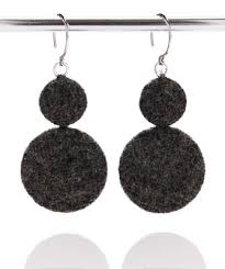 felt earrings felt earrings by tavern