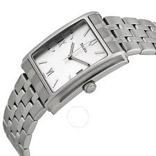 bulova watches ladies bracelet images Bulova white dial stainless steel ladies watch 96a001 bracelet jpg