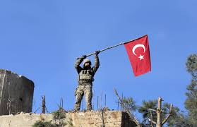 Soldier With Flag Turkey U0027s Syria Offensive Enters Second Month With Slow Progress