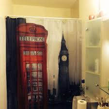 london phone booth bookcase the happy elephant shower curtain from stacygood4 on etsy