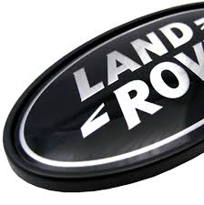 land rover logo land rover freelander 1 black silver oval rear badge upgrade td4