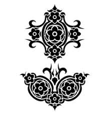 skull music tribal tattoo set royalty free vector image