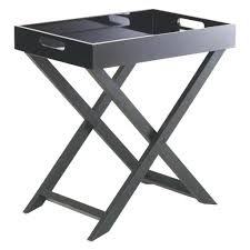 Folding Side Table Side Table Wooden Folding Side Table Coffee Amusing Black