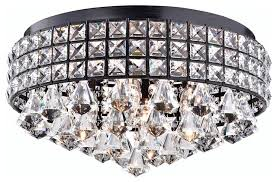 Crystal Ceiling Mount Light Fixture by Crystal Flush Mount Chandelier Antique Bronze Contemporary