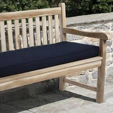 Bench Cushions For Outdoor Furniture by Clara Indoor Outdoor Navy Blue Bench Cushion Made With Sunbrella