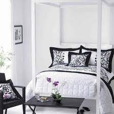 bedroom large black and white bedroom decor ideas including black bedroom gorgeous black and white bedroom ideas with canopy bed with floral pillow cover design