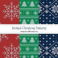 knit christmas various knit christmas patterns vector free