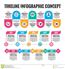 infographic concept in flat design style timeline template for