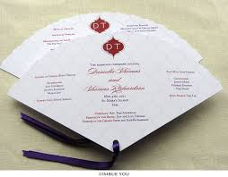 fan program indian wedding program fan with monogram imbue you