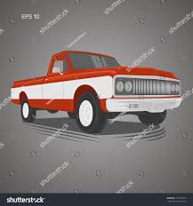 Vintage Ford Truck Center Caps - vintage pickup truck vector illustration oldschool stock vector