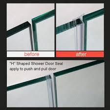 glass door sweep huaha frameless flexible shower door seal sweep for 3 8