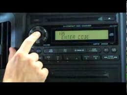 04 honda pilot radio code anti theft radio code
