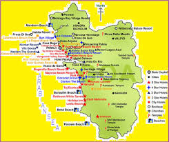 South India Map by Goa Tourism Map Tourist Attractions In Goa Goa Tourist Map