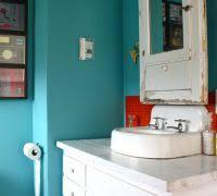 Rustic Bathroom Walls - rustic bathroom wall decor bathroom eclectic with bold colors bold
