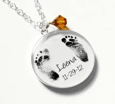footprint necklace personalized footprint necklace mothers personalized baby actual with