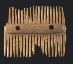 viking anglo saxon hairstyles viking comb on display at the orkney museum c orkney library