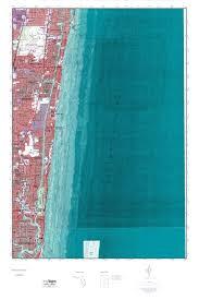 Pompano Beach Florida Map by Mytopo Pompano Beach Florida Usgs Quad Topo Map