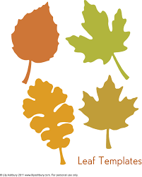 leaf template printables leaf template to write on autumn