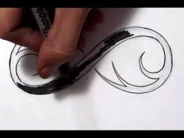 drawing a cool infinity symbol design sketch