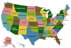 Wayne State Map Best Selling Singer Music Artist Or Band From Each Us State