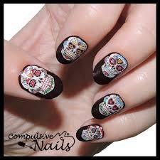 sugar skull nail polish strips nail wraps awesome nail art