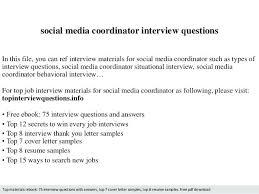social media coordinator resume sample u2013 topshoppingnetwork com