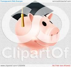 graduation piggy bank of a pink graduation piggy bank wearing a mortar board