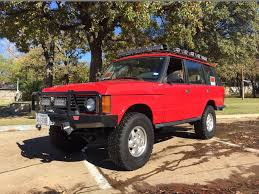 red land rover old 1995 range rover classic lwb dfw tx