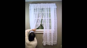How To Hang Curtain Swags by How To Hang A Priscilla Lace Curtain Youtube