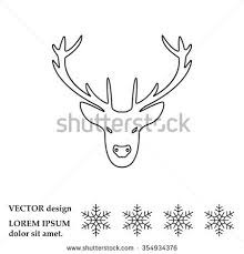 holiday deer graphic hand drawn vector stock vector 494342881