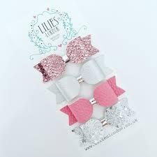 hair bows uk silver hair pink hair bows toddler headband metallic hair