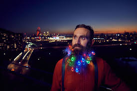 Hipster Lights Christmas Lights Are The Only Way To Accessorize Your Beard This